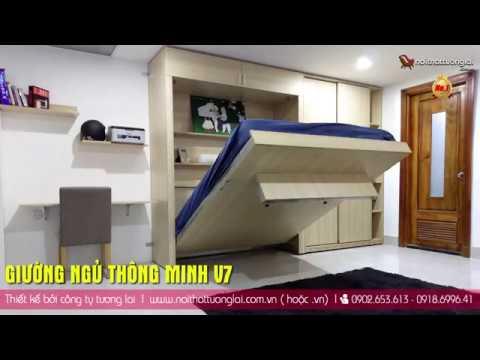 Giường thông minh V7 – Giường ngủ đa năng tương lai 2018