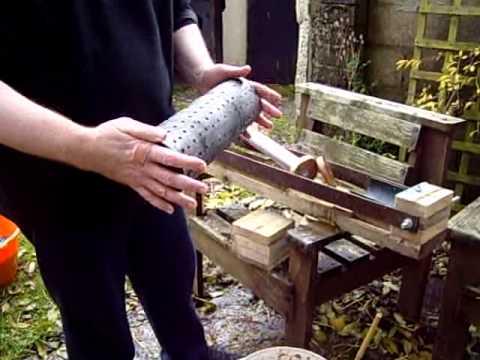 Homemade fuel briquette press