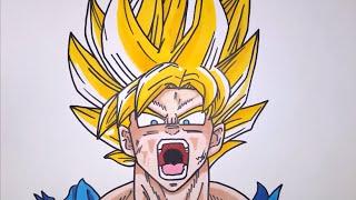 How To Draw Super Saiyan Goku Step By Step EASY