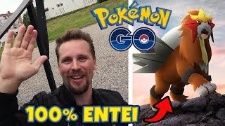 FÅNGAR EN 100% LEGENDARY ENTEI I SHINY RAID (1984 CP) - POKEMON GO