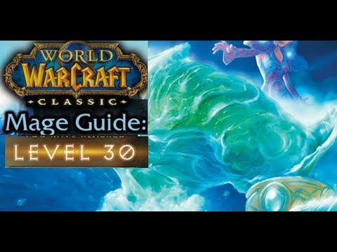 Classic WoW Solo AOE Frost Mage Leveling Guide 28-32 + Horde Gank Escape!