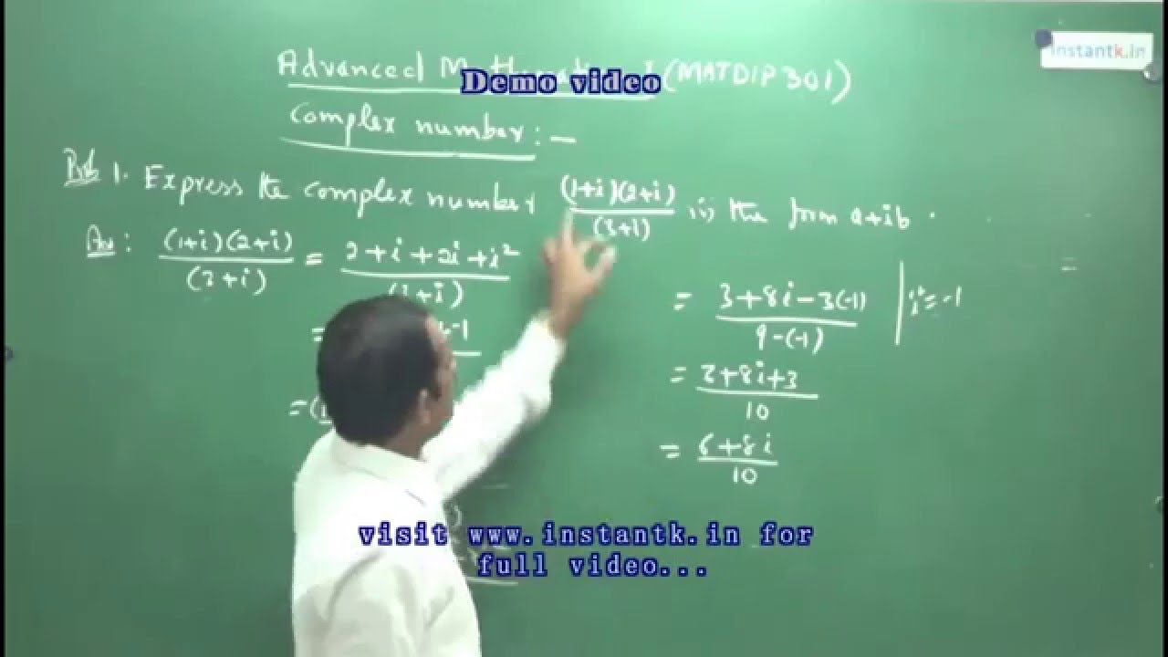 Advanced Mathematics I Full Course Buy@8088 700800 - VTU MATDIP301 notes