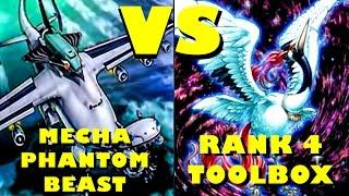 Real Life Yugioh - MECHA PHANTOM BEAST vs RANK 4 TOOLBOX Scrub League July 2015 Format