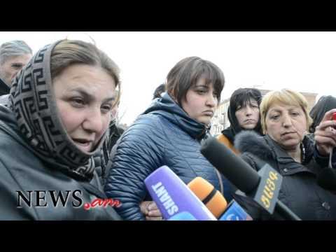 Գյումրիում Ավետիսյանների հարազատները բողոքի ակցիա իրականացրին