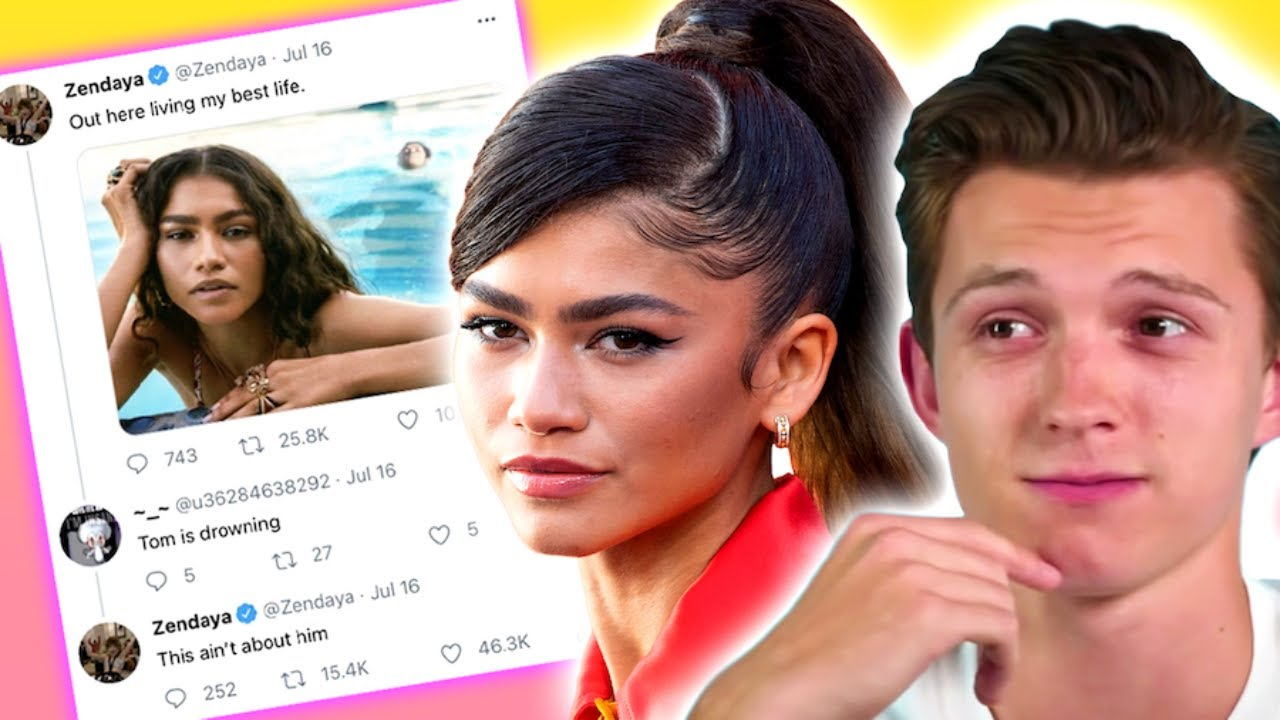 Zendaya SHADES BOYFRIEND Tom Holland in THIS NOW-DELETED Twitter pic + AVOIDS DATING in interview