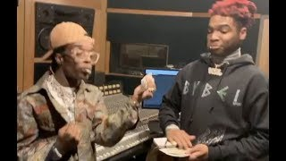 Lil Keed Gets Lil Uzi Vert To Start Rapping Again! In Studio Throwing $100 Bills