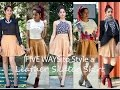 Five Ways to Wear a Leather Skater Skirt