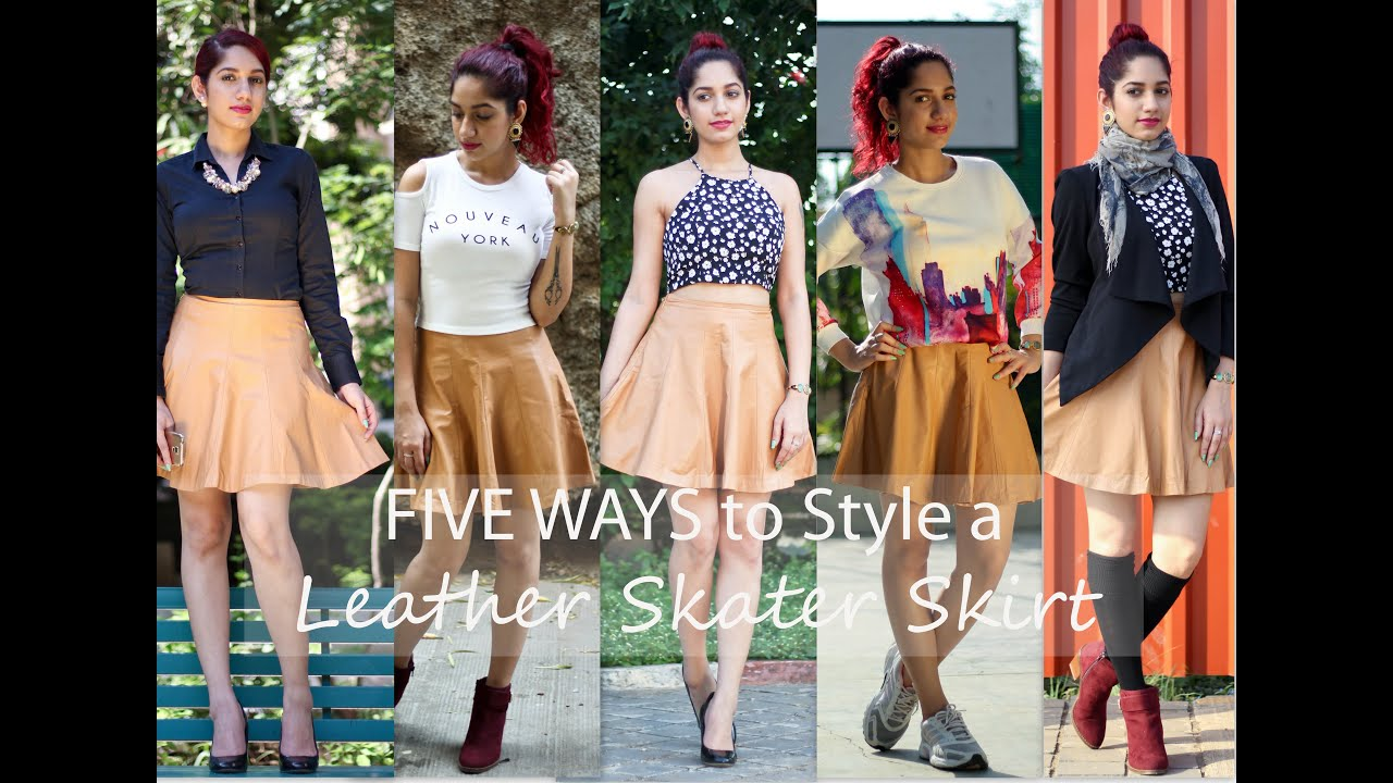 5b864cb5bd29 Five Ways to Wear a Leather Skater Skirt. THE STYLE CHAIR
