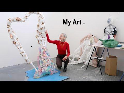 My Art Process + Make A Sculpture With Me!  (Abstract, Modern Art)
