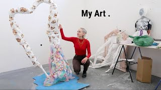 My Art Process + Make A Sculpture With Me!  (Abstract, Modern Art)