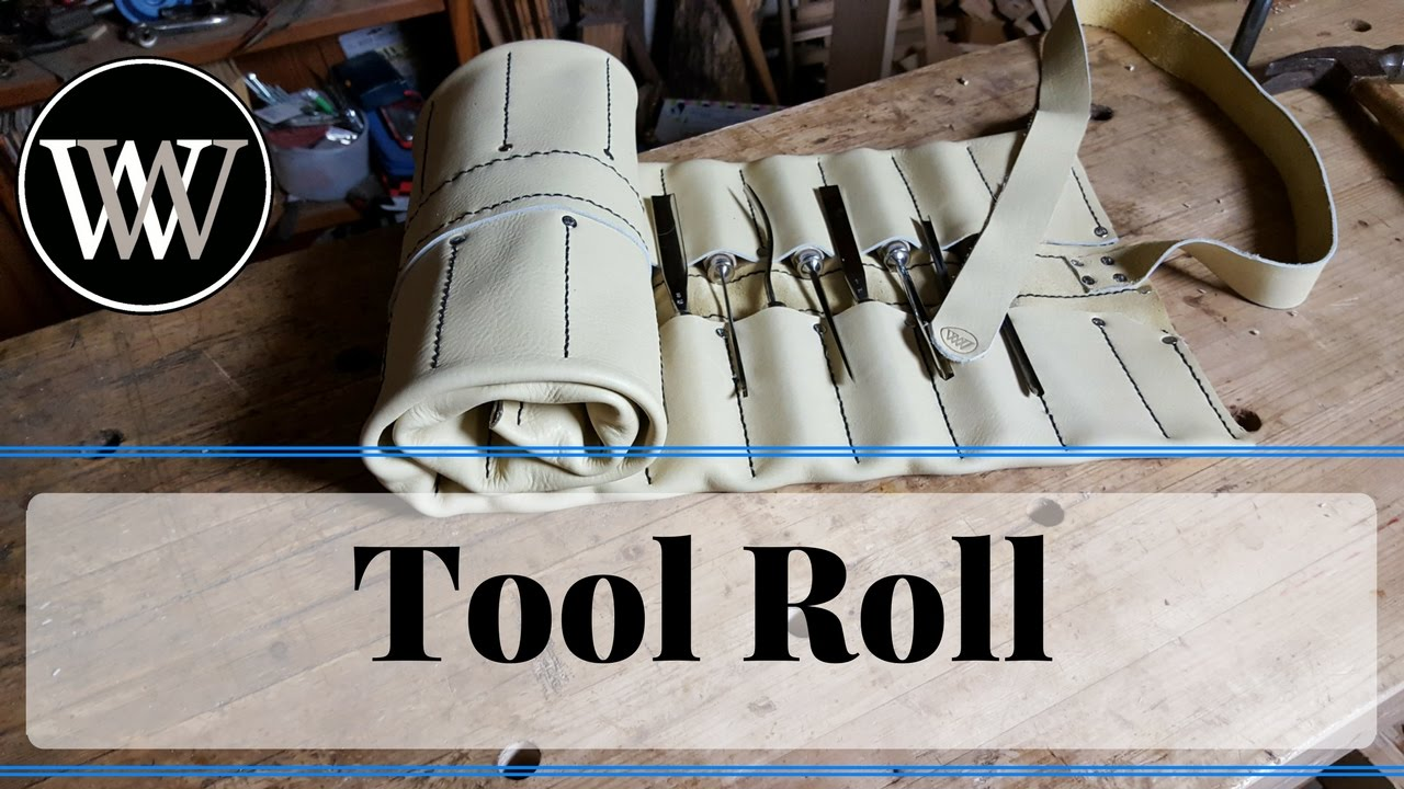 How To Make A Tool Roll From Leather For Woodworking Carving Chisels You