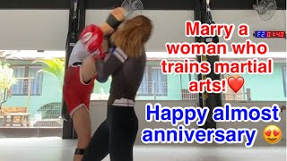 Kicking my wife in the head | happy almost anniversary