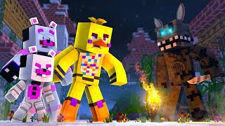 Murder Mystery With Helpy, Chica, and Twisted Wolf! Minecraft FNAF Roleplay