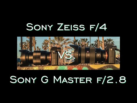 Sony G Master f/2.8 vs. Sony FE Zeiss f/4 REAL Hands On Lens Challenge and Review by Jason Lanier