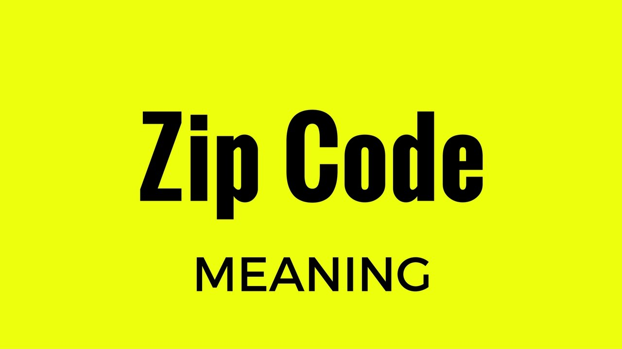 Zip Code Meaning Youtube