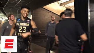 'We going to the Elite Eight!': Florida State celebrates win over Gonzaga | ESPN