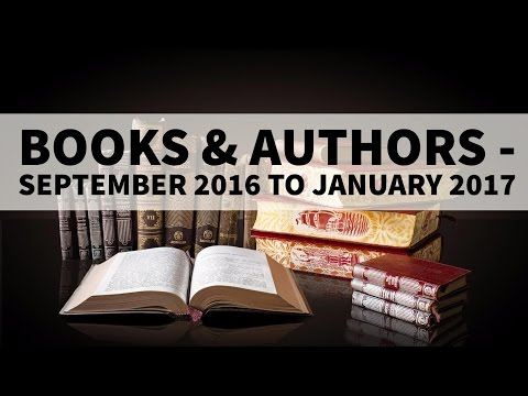 Books & Authors - September 2016 to January 2017 - Current Affairs