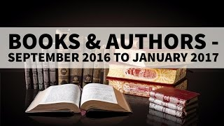 Books & Authors September 2016 to January 2017 Current Affairs