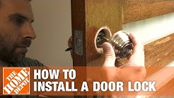 How to Install a Door Lock | The Home Depot