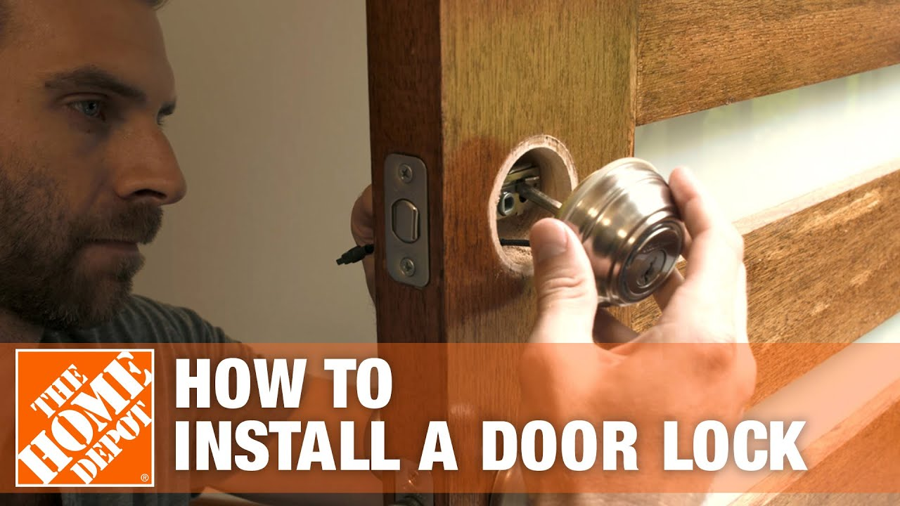 How To Install A Door Lock The Home Depot You