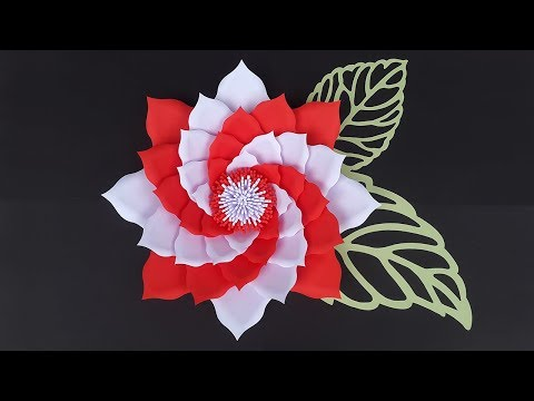 DIY Paper Flower Tutorial for Wedding Backdrop with Free Template