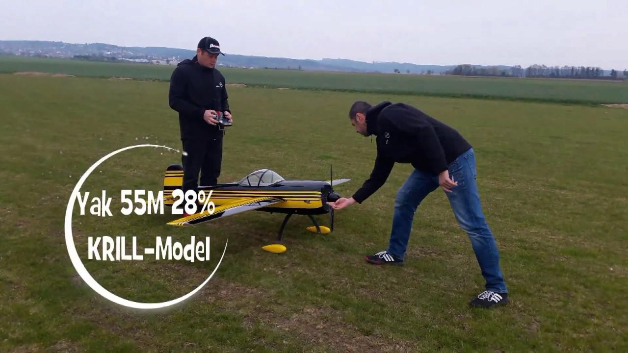 Yak 55M 28% KRILL-Model -  Maiden flight