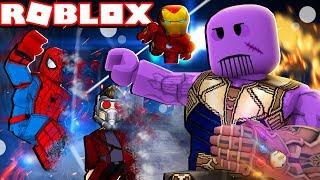 Wie man spielt als THANOS auf Roblox! (Superhelden-Simulator)