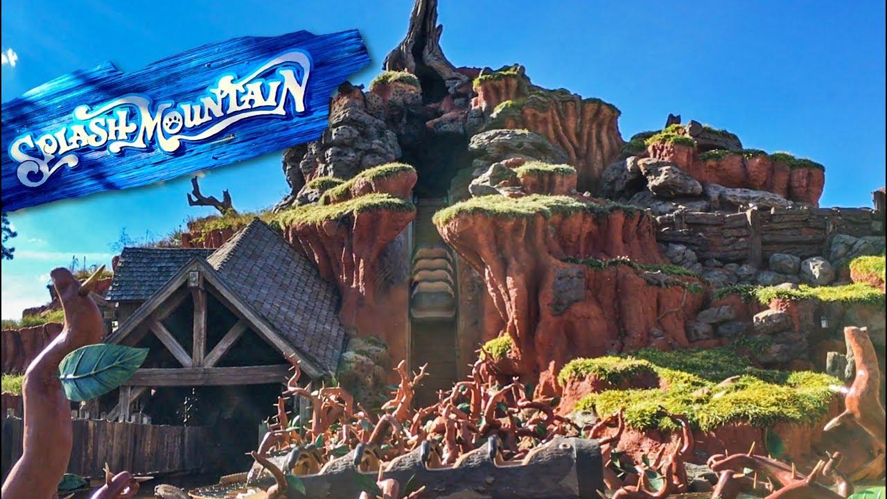 Splash Mountain Testing With No Water | Magic Kingdom ...