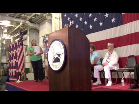 """Amador Valley Quilters """"Quilts of Valor"""" at USS Hornet Museum 2013"""