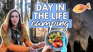 A RELAXING Day CAMṖING in the WOODS [vlog]