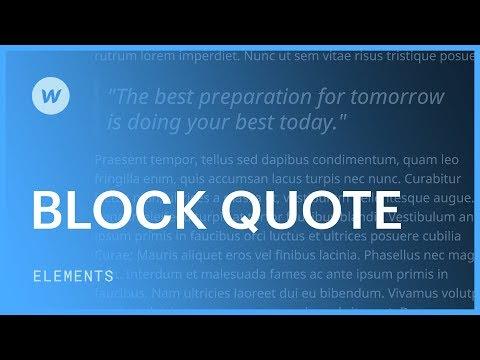 Block quotes - Web design tutorial