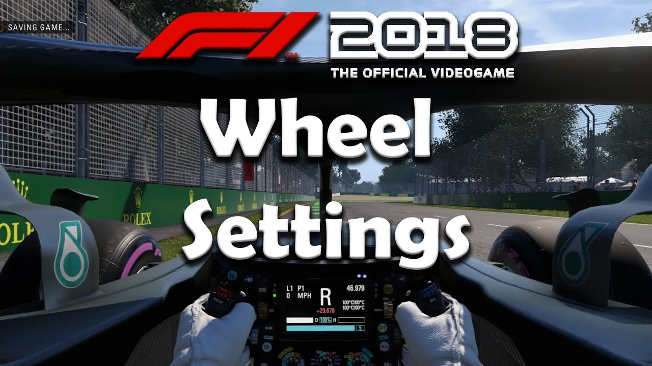 F1 2018 Game - Wheel Settings & Halo Settings