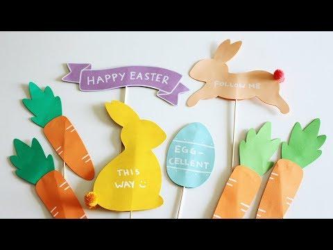 DIY Easter Egg Hunt Signs
