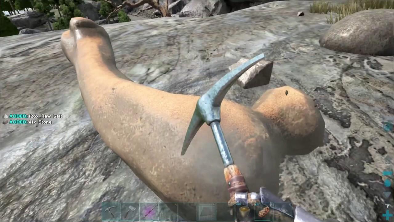 How to get Raw Salt - ARK Ragnarok - YouTube