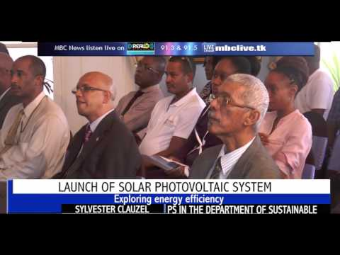 MBC Television - Solar Panels on Government House, Saint Lucia