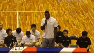 2018/07/16熊本県立総合体育館で行われた熊本ヴォルターズ新チーム発足...