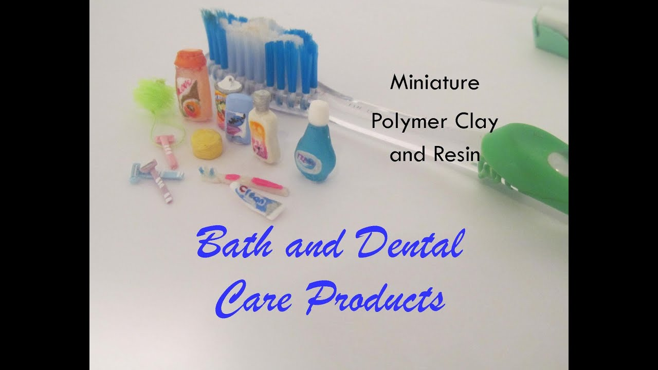 bath , body, and dental care products polymer clay and resin