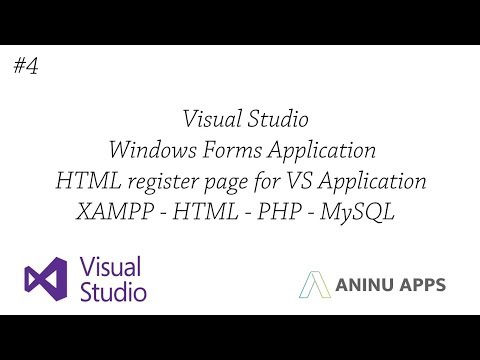 #4 Register HTML page for Windows Application (Visual Studio / VB) (With your API)