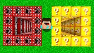 ЯМА ИЗ ДИНАМИТА против ЛАКИ БЛОКОВ В МАЙНКРАФТ! Неудачник Нуб в Minecraft Троллинг Ловушка Мультик
