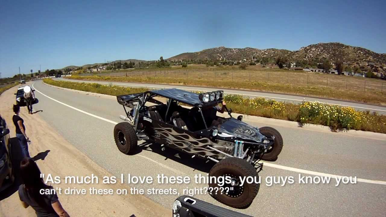 750 HP Sand Rail on the Street VS The Cops!