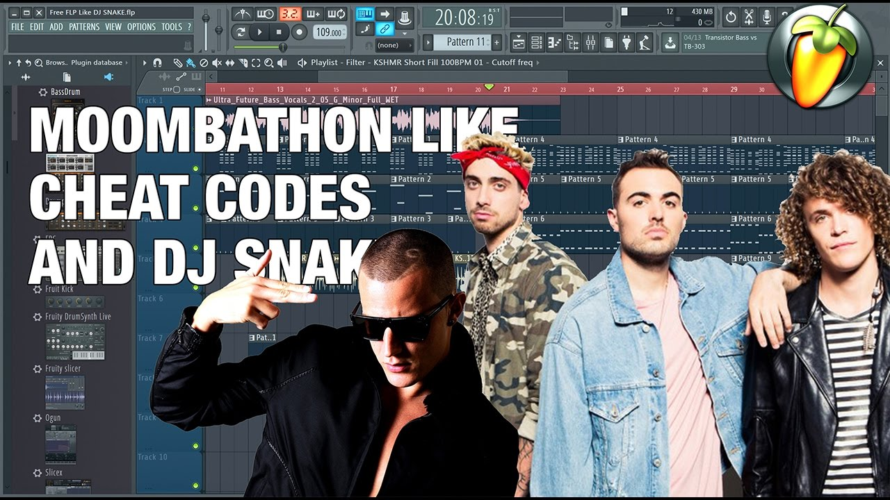FREE FLP #6 | MOOBATHON Fl Studios 12 | MOOMBATHON LIKE CHEAT CODES AND DJ SNAKE