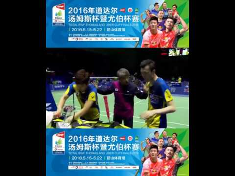♚ 2016 Thomas Cup Fu HaiFeng Zhang Nan (China) vs Lee Yong Dae Yoo Yeon Seong (Korea) | QF