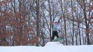 huge homemade backyard terrain park recap 2010 backflips 360 s jibs