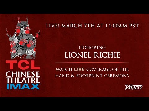 Lionel Richie - Hands and Feet Ceremony - TCL Chinese Theatre