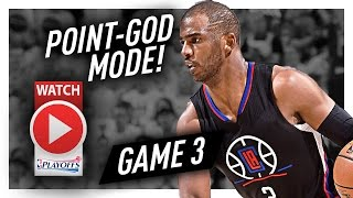 Chris Paul UNREAL Game 3 Highlights vs Jazz 2017 Playoffs - 34 Pts, 10 Ast, 7 Reb