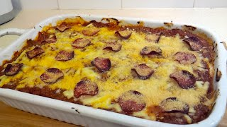 Spaghetti Squash Pizza Lasagna Bake (low Carb)