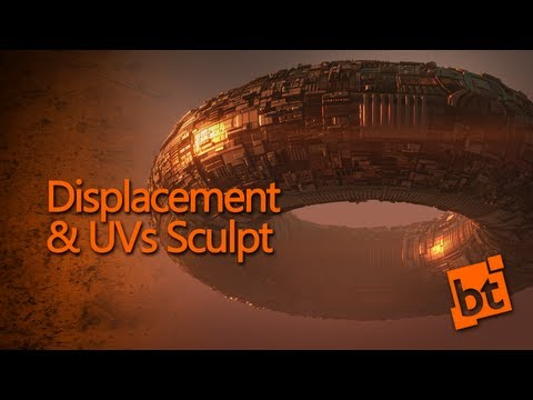 Displacement & Uvs Sculpting - Create an Alien Spaceship