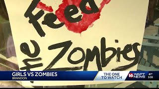Girl Scout use zombies to teach lifelong skills