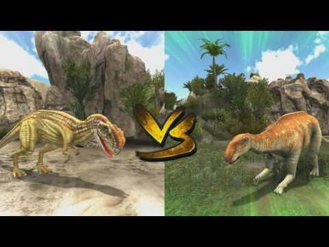 my dinosaur [sinotyrannus]-fight scene   [T-REX]