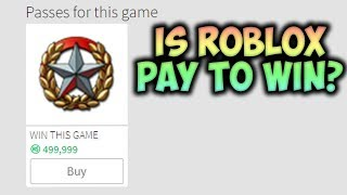 Has ROBLOX Become Pay to Win?